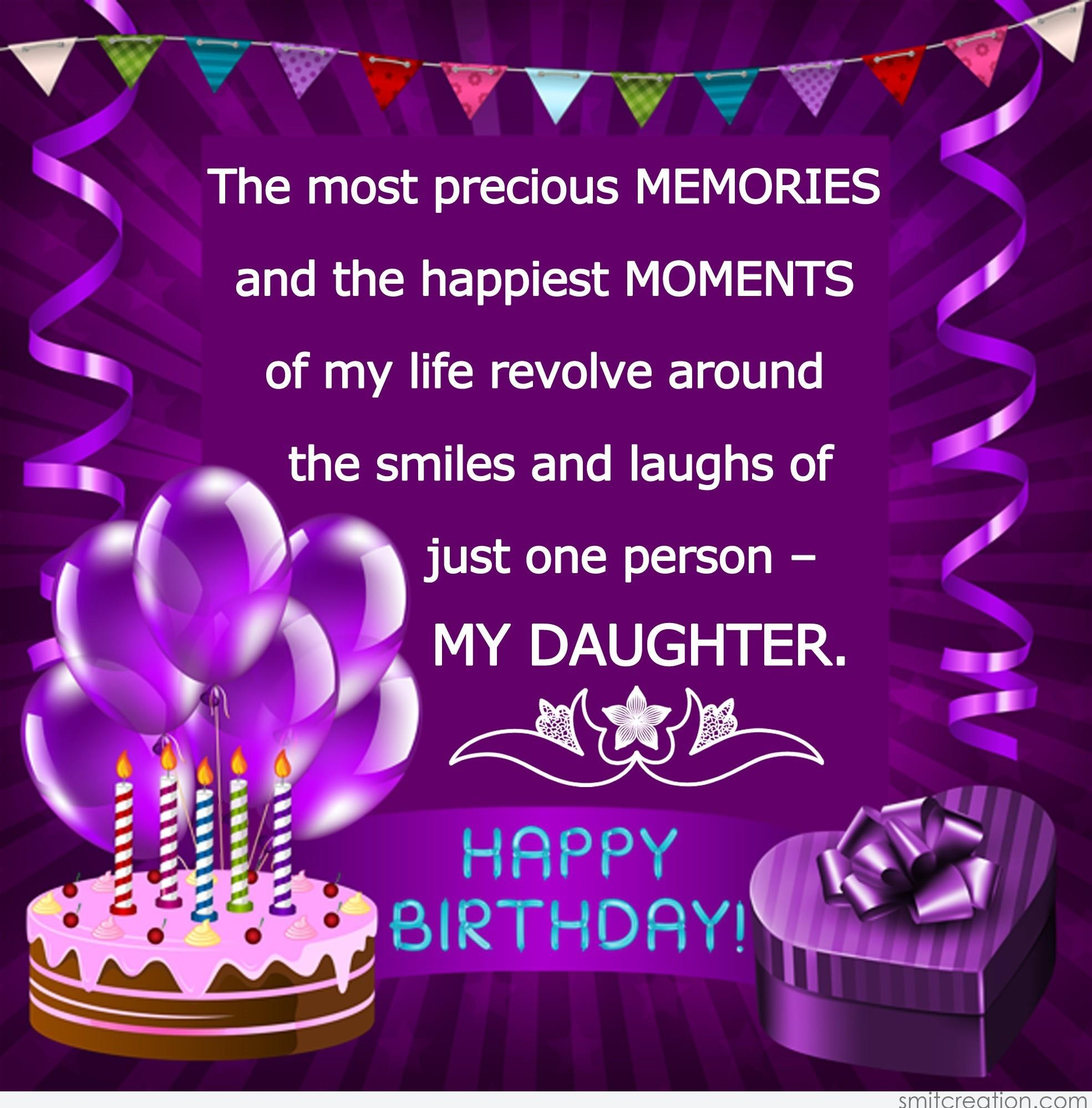 Birthday Wishes For Daughter Pictures And Graphics Smitcreation