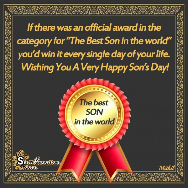 Wishing You A Very Happy Son's Day