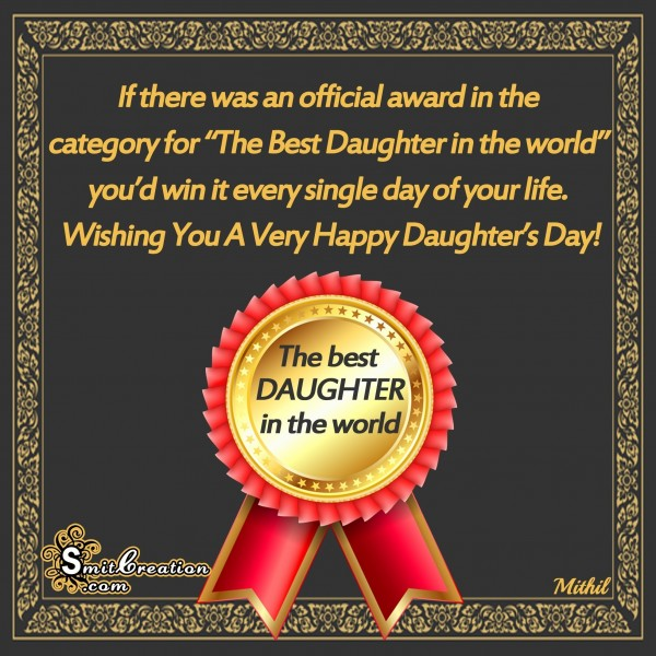 Wishing You A Very Happy Daughter's Day
