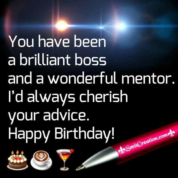 Happy Birthday to Brilliant Boss