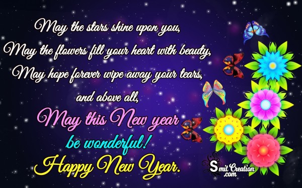 May this New year be wonderful, Happy New Year