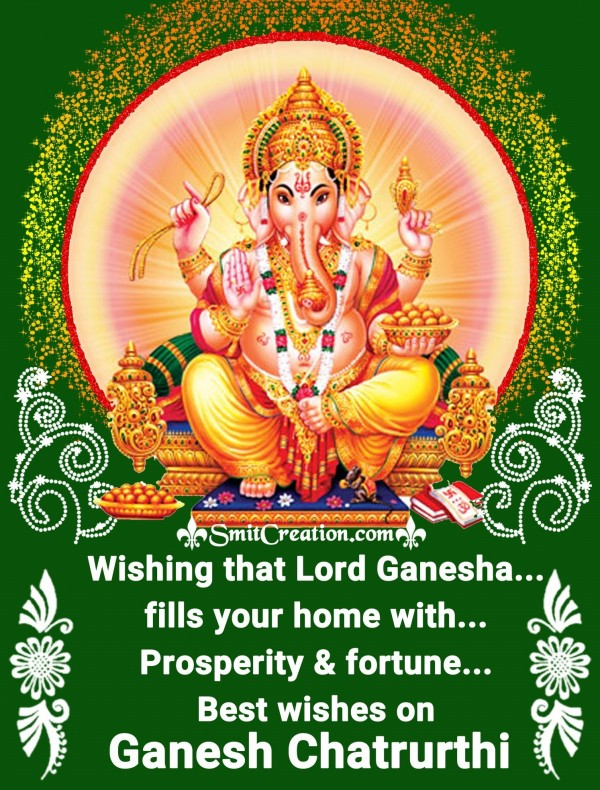 Best wishes on Ganesh Chatrurthi