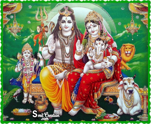 Beautiful Image Of Shiva Family
