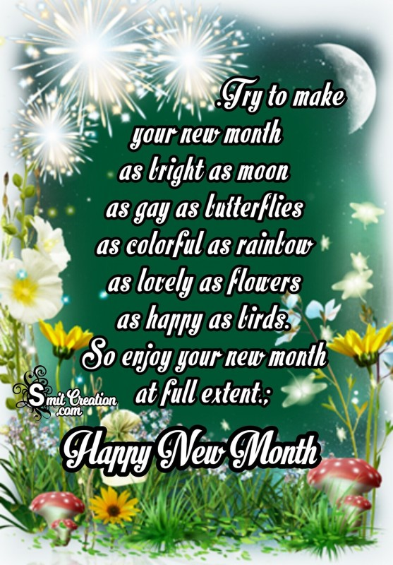 Happy New Month – Enjoy Your New Month