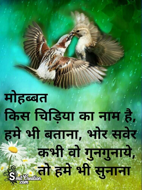 Mohabbat Kis Chidiya Ka Naam Hai Hume Bhi Batana