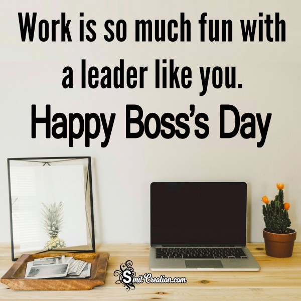 Warm wishes for a Happy Boss's Day