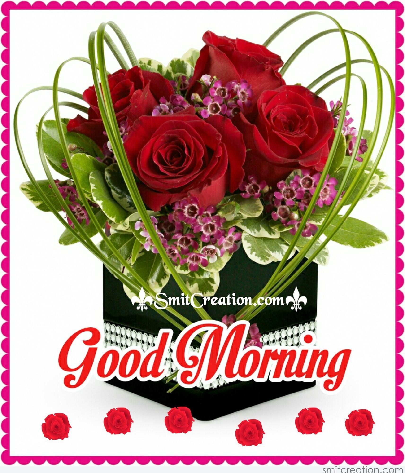 Good Morning Elegant Flower Bouquet - SmitCreation.com