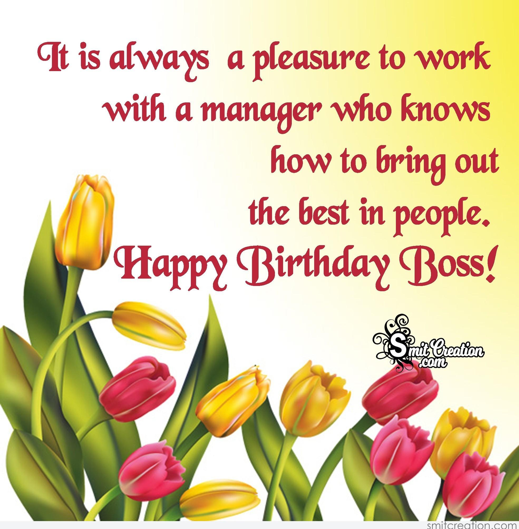 Happy Birthday Boss! - SmitCreation.com