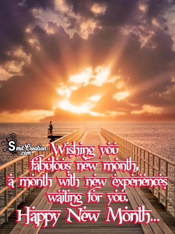 Wishing You Fabulous New Month,