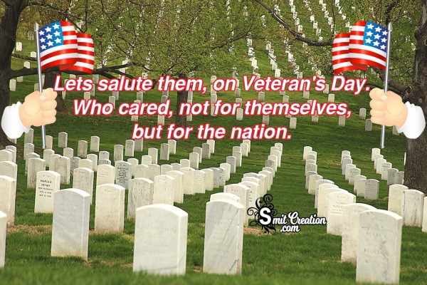 Lets salute them, on Veteran's Day