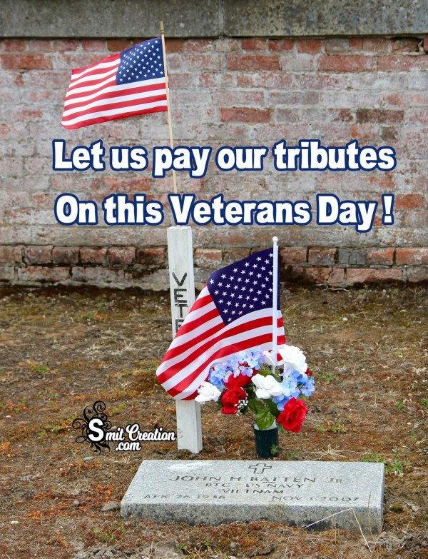 Let us pay our tributes On this Veterans Day !