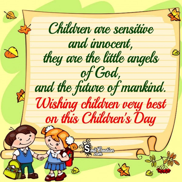 Wishing children very best on this Children's Day