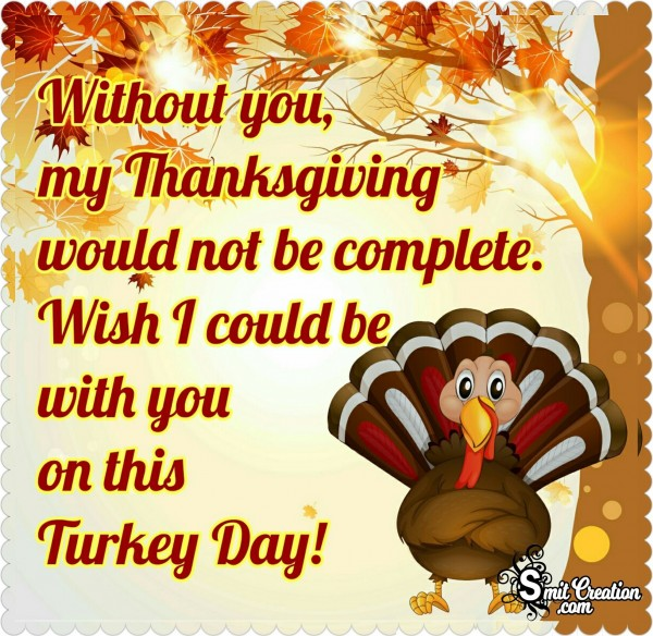 Wish I Could Be With You On This Turkey Day!