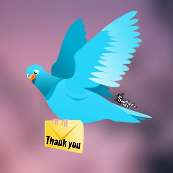 Sending Thank You Letter by Bird