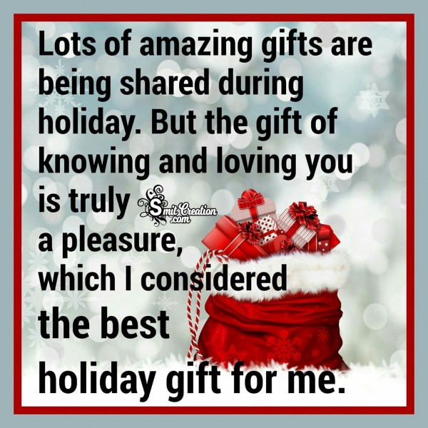 Happy Holidays – Lots Of Amazing Gifts Are Being Shared