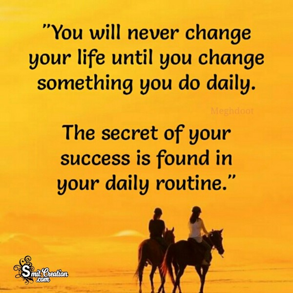 You Will Nevrer Change Your Life