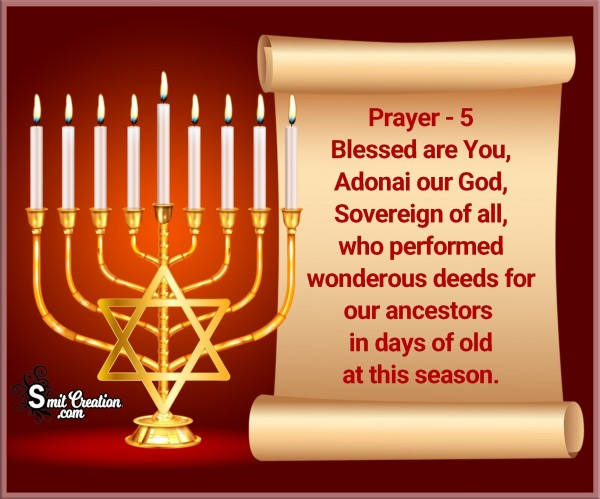 Hanukkah Prayer – 5