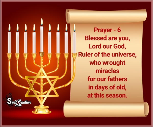 Hanukkah Prayer – 6