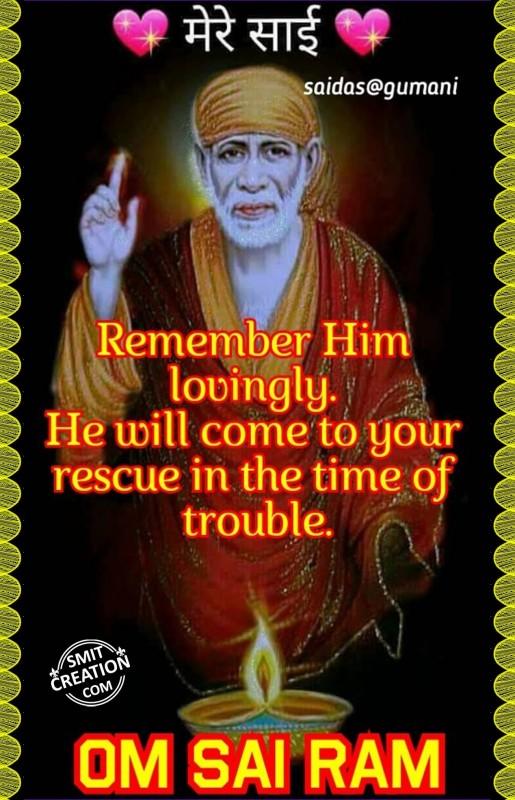 Remember Him Lovingly