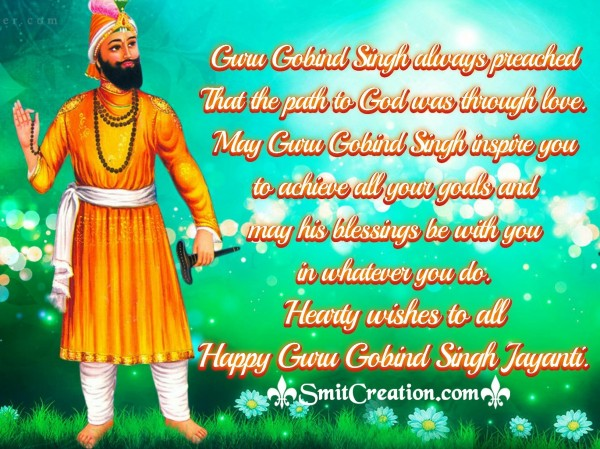 Happy Guru Gobind Singh Jayanti Wishes For Whatsapp
