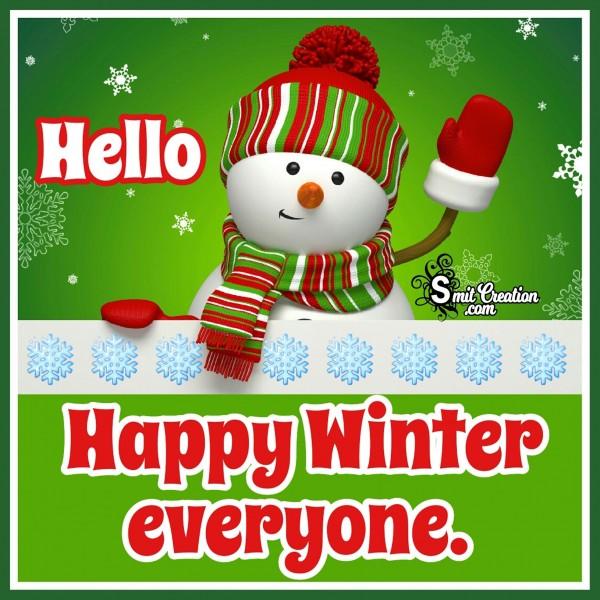Hello Happy Winter Everyone
