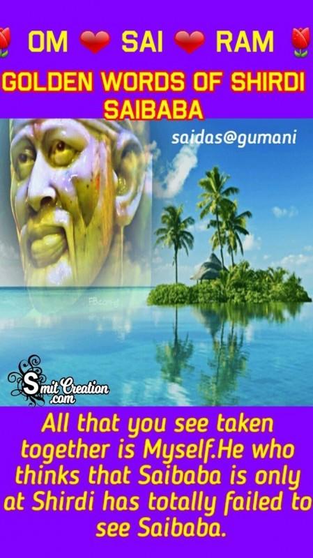 Golden Words Of Shirdi Saibaba No.3