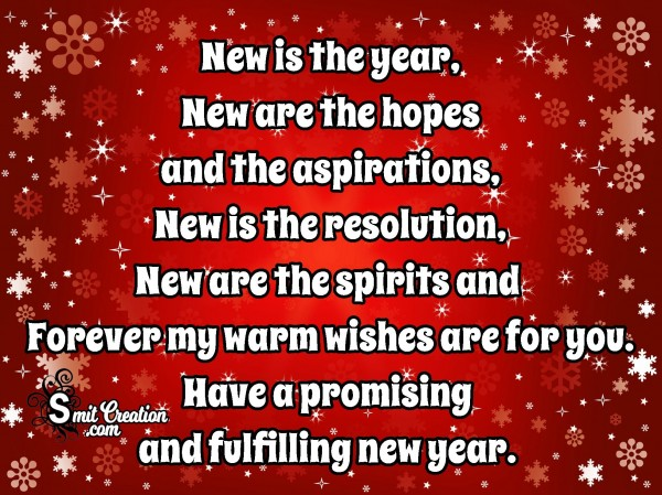 Have A Promising And Fulfilling New Year