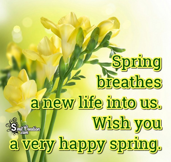 Wish You A Very Happy Spring