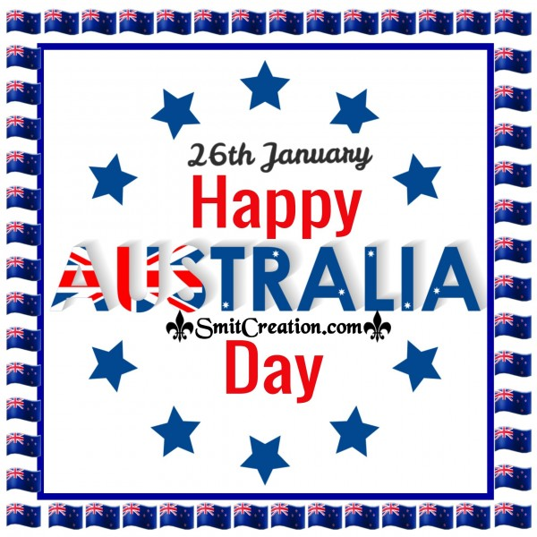26th January Happy Australia Day