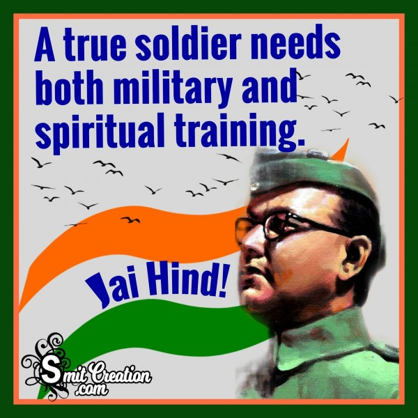 A True Soldier Needs Both Military And Spiritual Training.""
