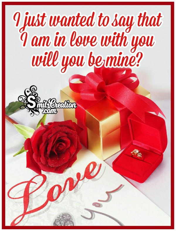 I Am In Love With You Will You Be Mine?