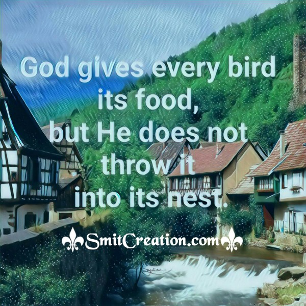 God Gives Every Bird Its Food