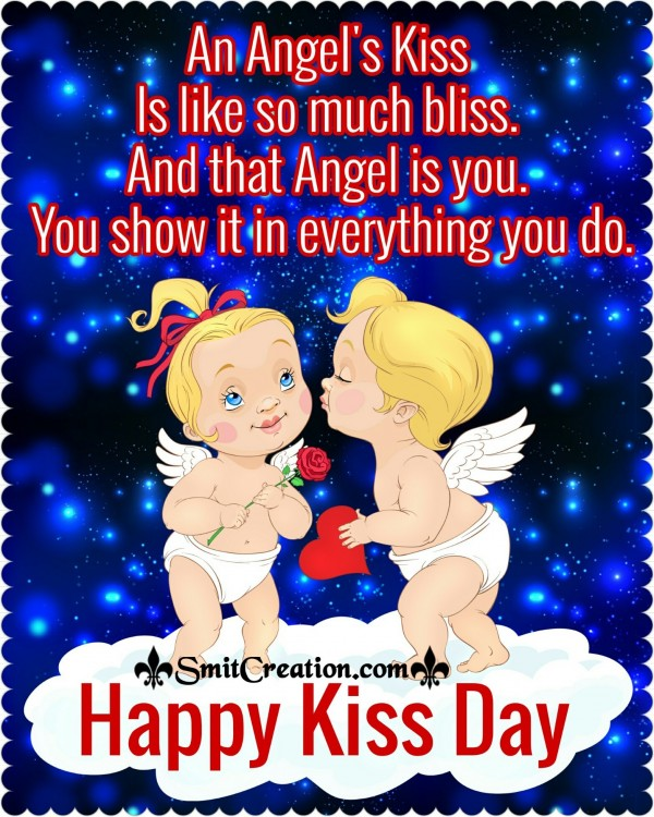 Happy Kiss Day – An Angel's Kiss Is Like So Much Bliss