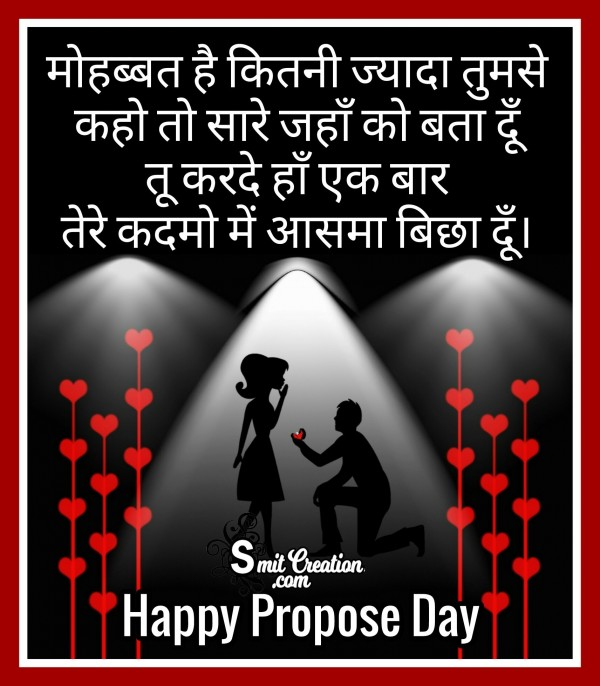 Happy Propose Day – Mohabbat Hai Kitni Jyada Tumse