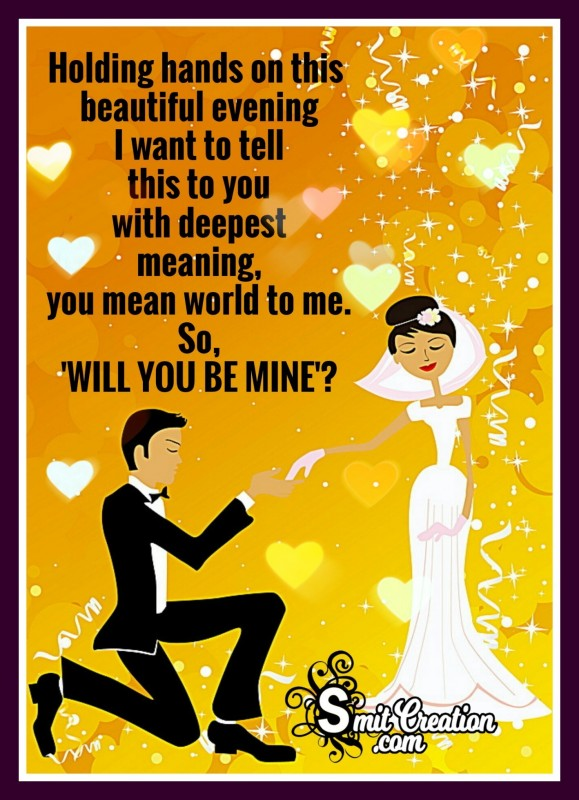 Happy Propose Day – 'WILL YOU BE MINE'?