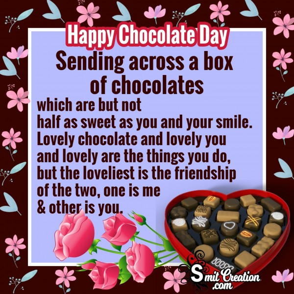 Happy Chocolate Day – Sending Across A Box Of Chocolates