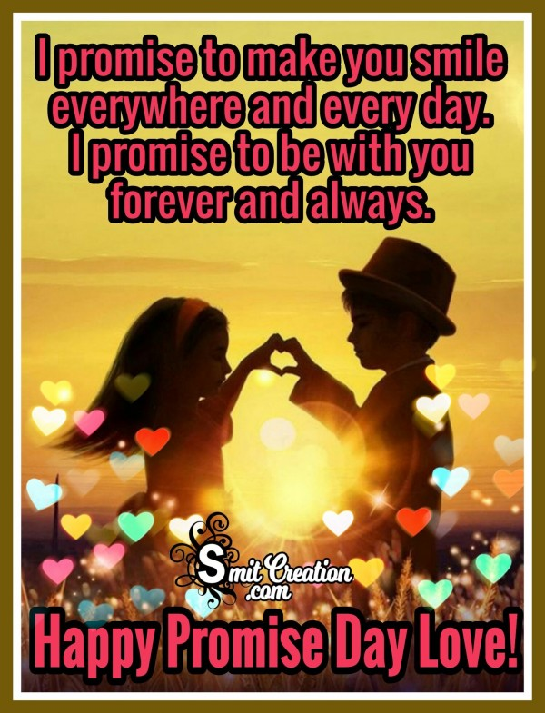 Happy Promise Day Love – I Promise To Make You Smile