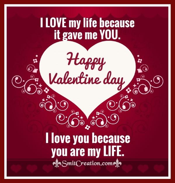 Happy Valentine Day – I LOVE YOU