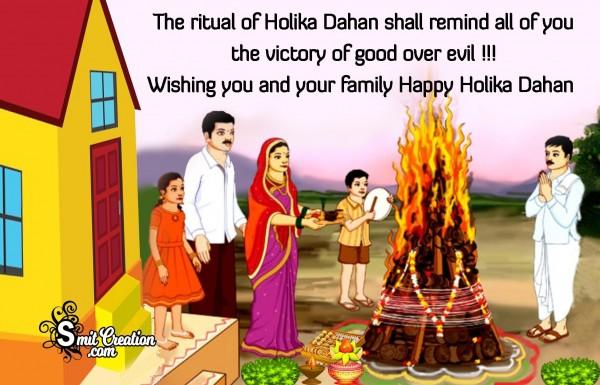 Wishing You And Your Family Happy Holika Dahan