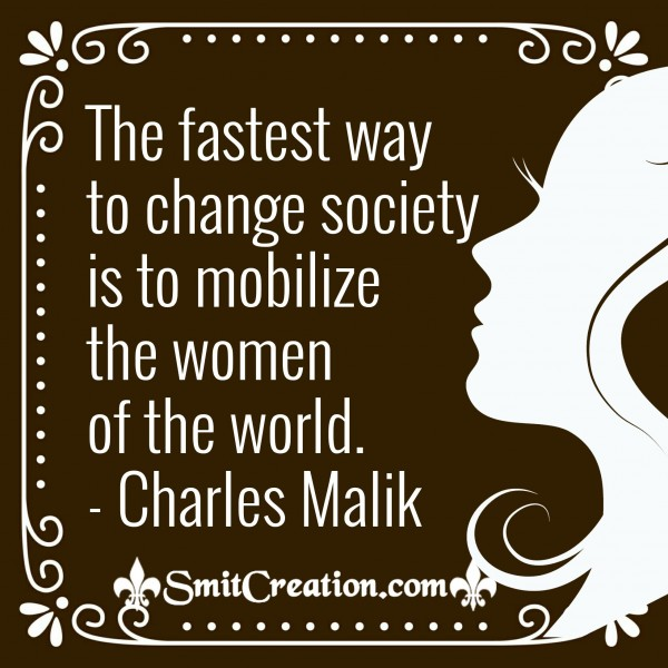 Mobilize The Women Of The World