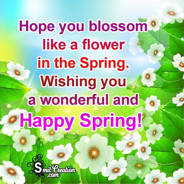 Wishing You A Wonderful And Happy Spring