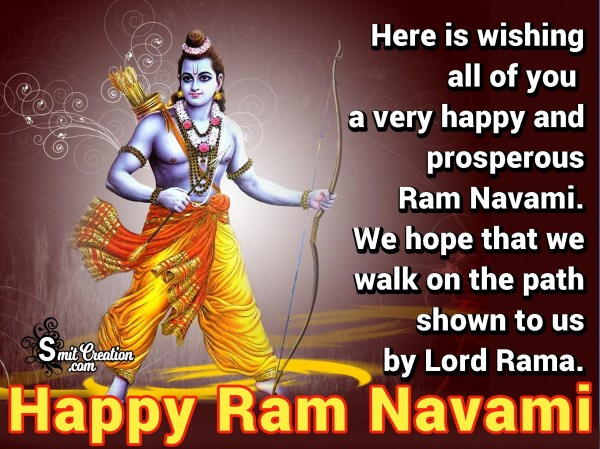 Happy And Prosperous Ram Navami