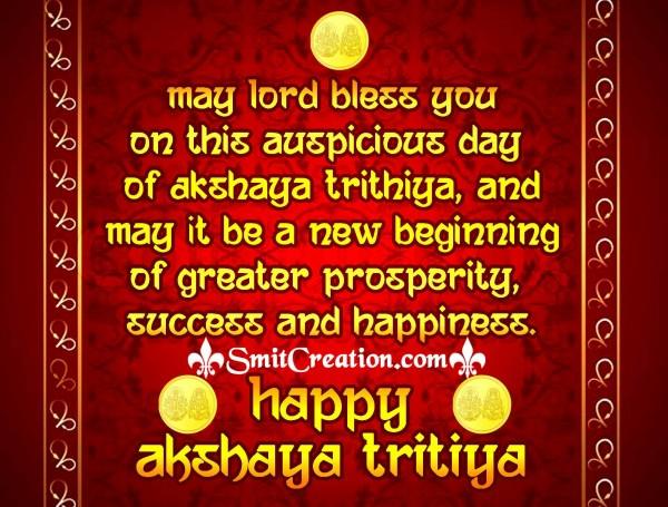 Happy Akshaya Trithiya – May Lord Bless You