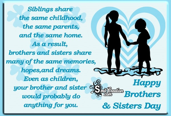 Happy Brothers And Sisters Day