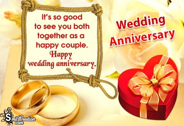 Happy Wedding Anniversay To Happy Couple