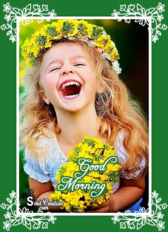 Good Morning Laughing Baby Image