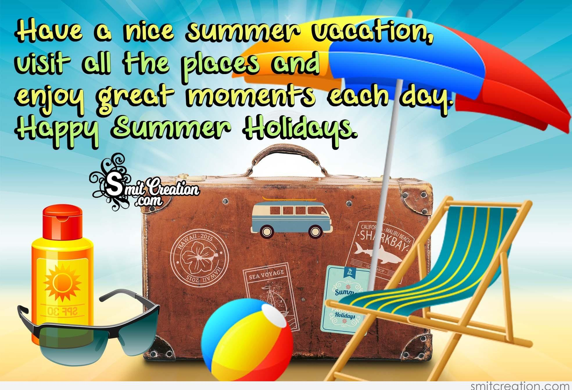 Happy Summer Holidays  SmitCreationcom
