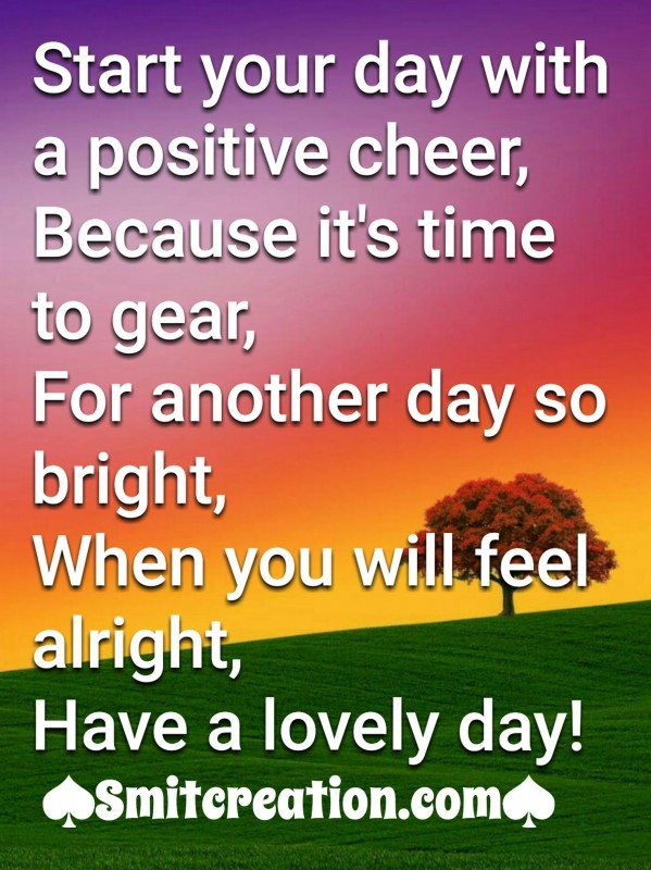 Start Your Day With A Positive Cheer