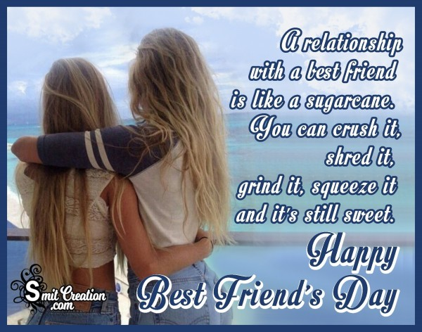 Happy Best Friend's Day To A Real Friend