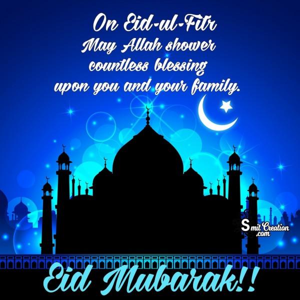 Eid Mubarak On Eid-Ul-Fitr